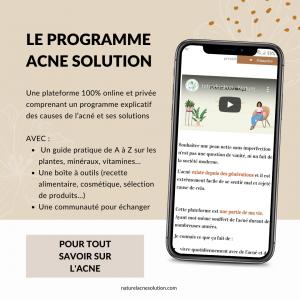 acné solution plante